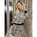 Set aus Hose und Sweatshirt mit Leopardenmuster