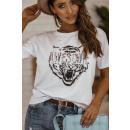 Blúz T-Shirt Női Félelmetes FEHÉR