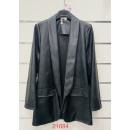 Women's leather blazer