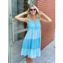 Sukienka letnia na ramiączkach z guzikami