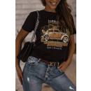 Blouse T-Shirt Women's Take a Breath Black