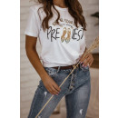 Bluse T-Shirt Damen Sei einfach du selbst WEISS