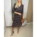 Women's chiffon dress with a cool pattern