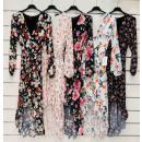 Sukienka asymetryczna z szyfonem