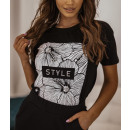 Bluzka t-shirt damska STYLE CZARNA