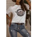 Bluzka t-shirt damska Hard rock BIAŁA