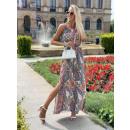 Sukienka na ramiączkach MAXI BOHO wzór