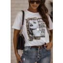 Bluse T-Shirt Frauen Manchmal die Lichter BIAŁA