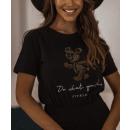 Bluzka t-shirt damska Do what you love CZARNA