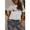 Blouse T-Shirt Dames Alle dromen zijn mogelijk WIT