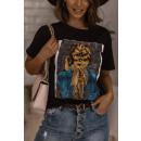 Blúz T-Shirt A nők MINDENKIT FEKETEK