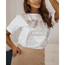 Blouse T-Shirt Dames SHINE WHITE