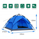 Schnellaufbau Zelt Camping Tent 240x210x135cm Blau