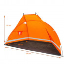 Beach tent tent beach shelter orange