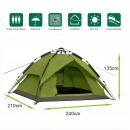 Tenda per installazione rapida 240x210x135 cm verd