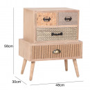 Chest of drawers with 4 transparent drawers