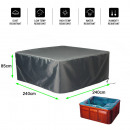 Protective cover for swimming pool 240W x 240D x 8