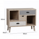 Drawer cabinet in wash white, 3 drawers
