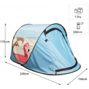 Throwing tent pop up tent 245 x 145 x 110 cm, blue