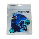 Fashion mondmasker wasbaar blauw gevarieerd