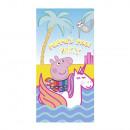 wholesale Bath & Towelling: towel Beach ( mixcrofibre 70X140cm) Peppa Pig