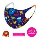 Kinder Design Maske mit Schutz