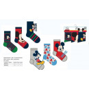 wholesale Socks and tights: Set 3 Socks Mickey Size 23-34
