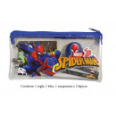 wholesale School Supplies: Stationery Set. 6 pieces Spiderman A5 with zipper