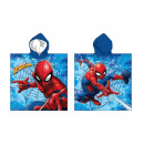 Poncho Spiderman -0511-55X110 Cms, 240Gr microfibr