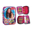 wholesale School Supplies: Multifunctional pencil case Soy Luna 20X13X4 Cms