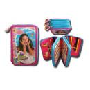 wholesale School Supplies: Triple pencil case Soy Luna 20X13X7 Cms