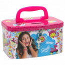 wholesale Children's and baby clothing: Piggy bank with handle Soy Luna 16X9X12 Cms