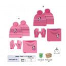 mayorista Artículos con licencia: set 3 piezas minnie gorro+braga de cuello+guantes