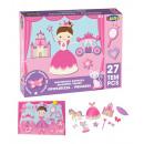 mayorista Artículos con licencia: puzzle magnetico princesas 29x22x4 cms 27 piezas