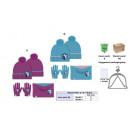 Großhandel Lizenzartikel: 3 Stück setzen frozen Hut + Handschuhe + Höschen