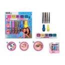 set 7 pieces make-up glitter 17,5x16,5x3 cms