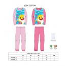 hurtownia Fashion & Moda: Różowa bawełniana piżama z rekinem 150 gramów 2-3-