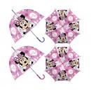 grossiste Articles sous Licence: parapluie bulle transparent Minnie 46 cm