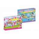Großhandel Spielwaren: Puzzle 2 Glitzer Meerjungfrau / Einhorn 24 Teile