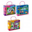 Großhandel Spielwaren: Mädchenpuzzle 45 Teile 29x39 cm