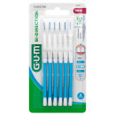 wholesale Drugstore & Beauty: GUM Bi-Direction 0.9 mm blue 6 pieces package