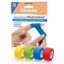 Lifemed self-adhesive plaster bandage 4m x 2.5cm