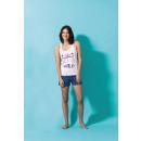 wholesale Shorts: SM short pajamas, plain top, round collar imp dvt,
