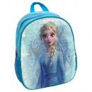 wholesale School Supplies: Backpack frozen II Elsa and Ana. With sequins reve