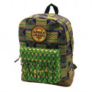 Africa Bags backpack with pocket. Rubber label