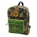 Zaino con tasca Africa Bags. Etichetta in gomma