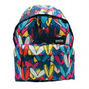 Hearts backpack with pocket. - 30 X 42 X 14 CM