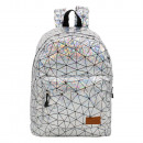 Ranking Laser silver backpack with pocket. - 30 X