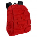 Compact red Tetris Eva 3D backpack. - 28 X 38 X
