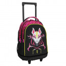 Double body compact trolley backpack with wheels